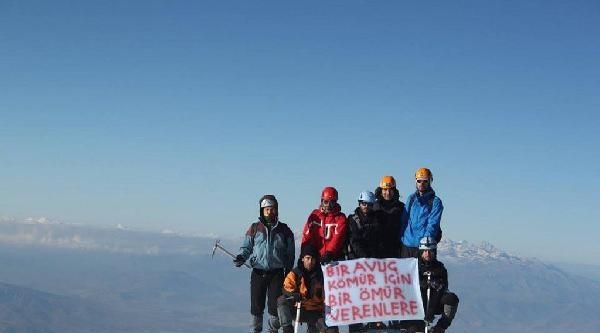 Soma Şehitleri İçin Erciyes'e Zirve Tırmanışı