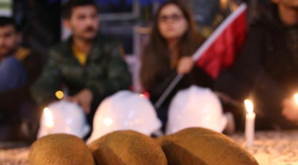 Soma'da Ölen İşçiler İçin Eylem Yaptılar
