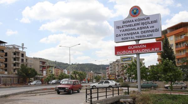 Soma'da Tabeladan Genel Müdürün Eşinin Adı Kaldırıldı