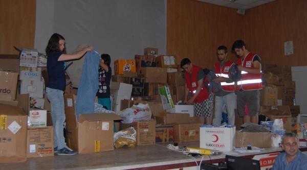 Soma'ya Gönderilen Yardımlar 'market' Sistemi İle Dağıtılıyor