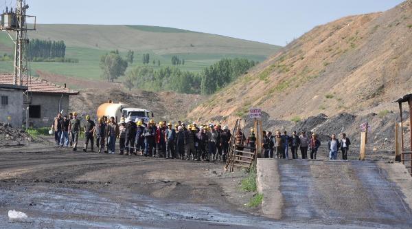 Sorgun'da Madenciler Bir Gün İş Bıraktı