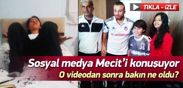 Sosyal medya Beşiktaşlı Mecit'le çalkalanıyor