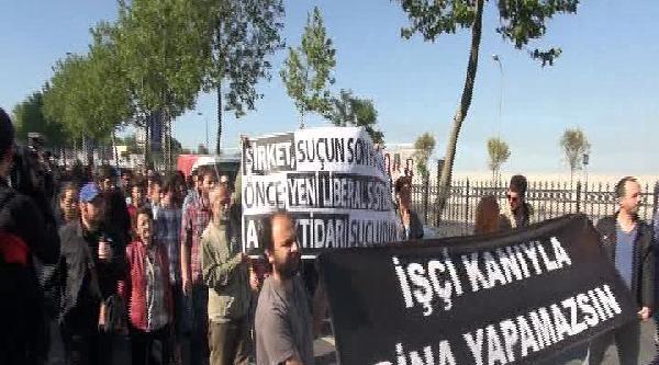 Spıne Tower Önünde Soma Protestosu