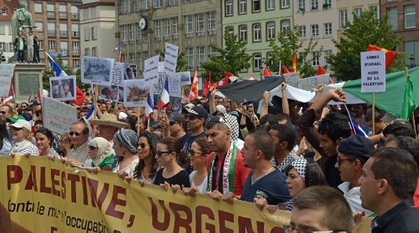 Strasbourg'ta İsrail Protestosu