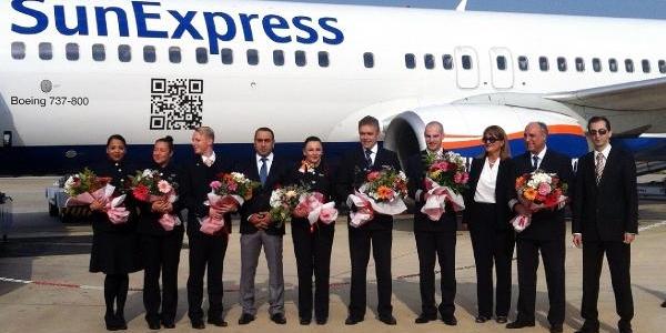 Sunexpress Gazipaşa'ya Ilk Uçuşunu Gerçekleştirdi