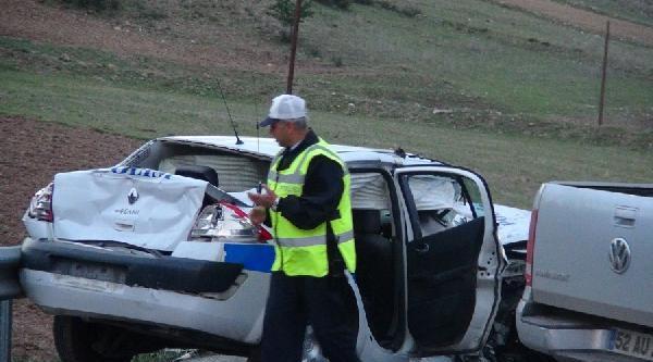 Sungurlu'da Zincirleme Kaza: 1 Polis Şehit, 3 Kişi Yaralı