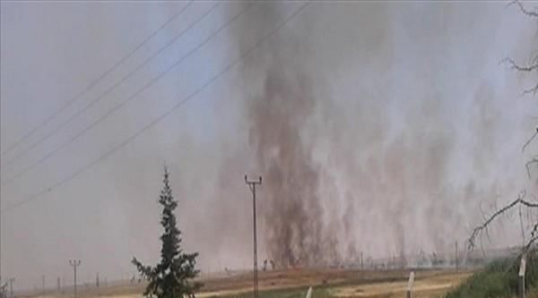 Suriye Sınırındaki Yangın Korkuttu
