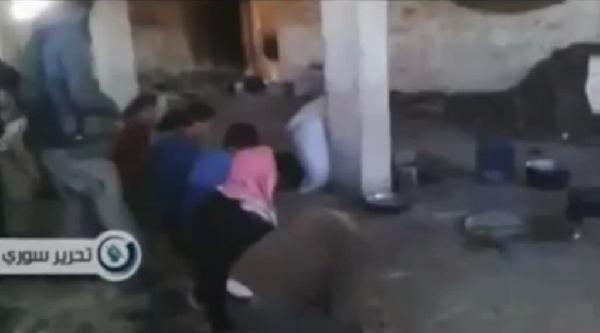 Suriye'de Radikal Dinciler 10 Kişiyi Böyle Kurşuna Dizdi