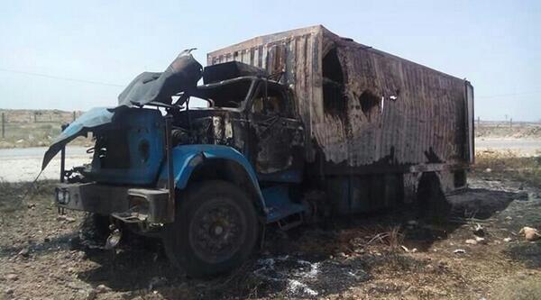 Suriye'de Rejim Uçakları Yardım Tır'ını Vurdu: 1 Ölü, 2 Yaralı