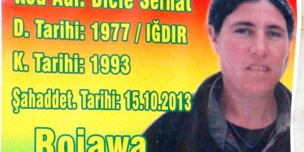 Suriye'deki Çatişmada Ölen Pkk'li Için Taziye Çadiri