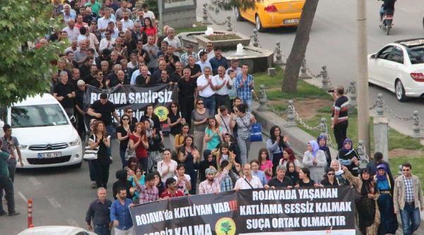 Suriye'deki Sivillerin Ölümleri Şanliurfa'da Protesto Edildi