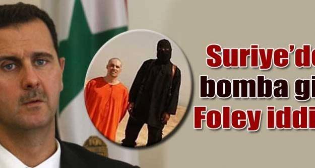 Suriye'den Foley iddiası
