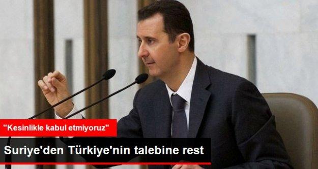 Suriye'den Tampon Bölge Resti: Kesinlikle Kabul Etmiyoruz