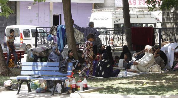 Suriyeli 32 Kişilik Aile Parkta Yaşam Mücadelesi Veriyor