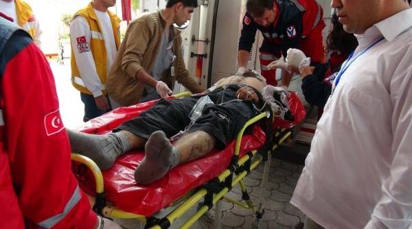 Suriyeli 33 Yarali Kilis'e Getirildi