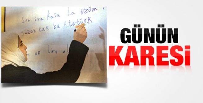 Suriyeli mülteciler Türkçe öğreniyor...