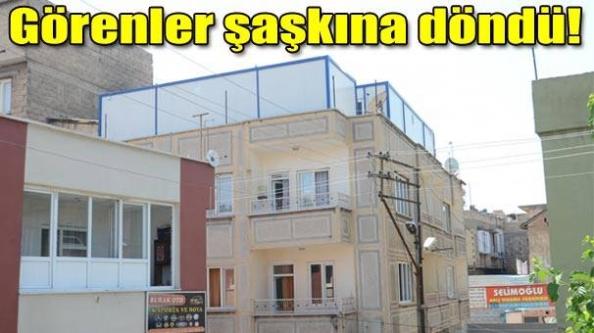 Suriyeli'ye kiralık, bina üstü konteyner!
