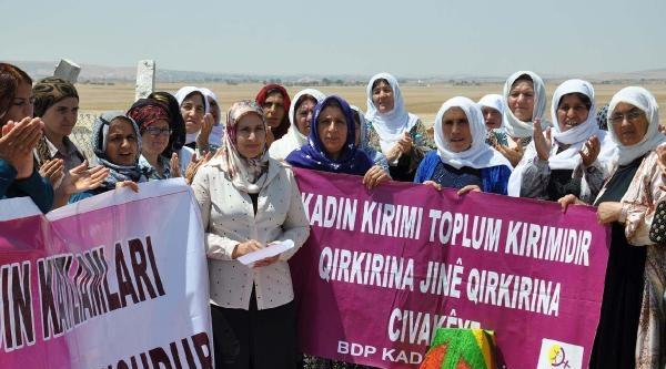 Suruç'ta Kadın Ölümleri Protesto Edildi