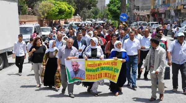 Suruç'ta Öcalan'a Özgürlük Yürüyüşü