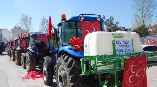 Susurluk'ta Çiftçilerden Traktörlü Protesto