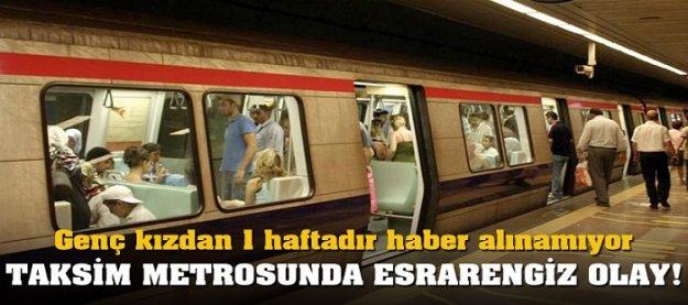 Taksim metrosunda esrarengiz olay!