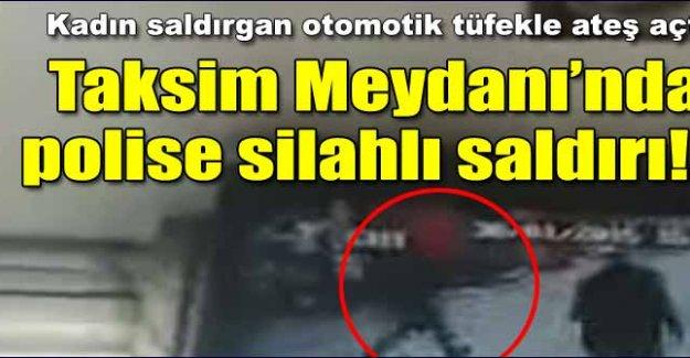 Taksim'de polise saldırı!