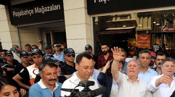 Taksim'de Şişecam'a Destek Yürüyüşü