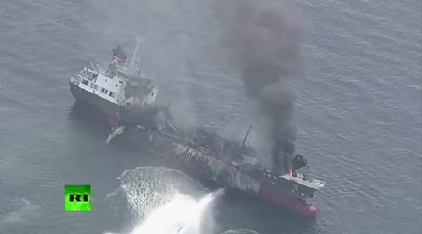 Tanker Patladıktan Sonra Böyle Yandı