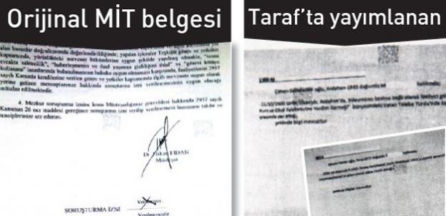 Taraf'ın yayımladığı MİT belgeleri sahte