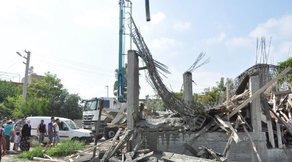 Tarsus'ta İnşaat Çöktü, İşçi Şoka Girdi