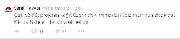 Tayyar'dan Kılıçdaroğlu Ve Bahçeli'ye İstifa Çağrisi