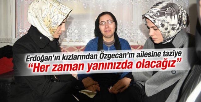 Tayyip Erdoğan'ın kızları Özgecan'ın annesine gitti