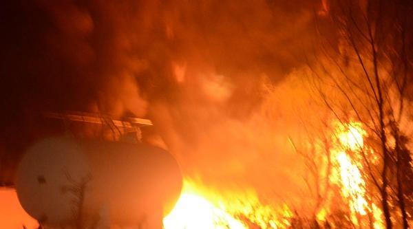 Tekirdağ'da Fabrika Yangını (1)