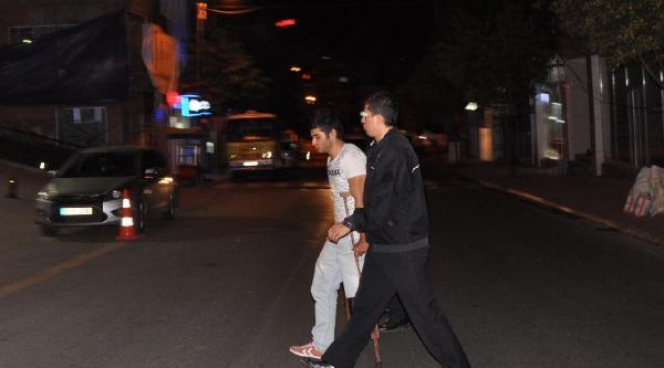 Tekirdağ'da Koltuk Değnekli Hırsız Polisi Şok Etti