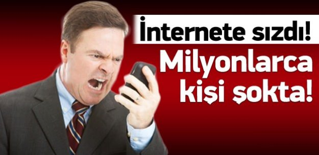 Telefon rehberleri internete sızdı!