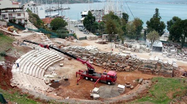 Telmessos Antik Tiyatrosu Restorasyonu 2014 Yaz Sonuna Kaldi