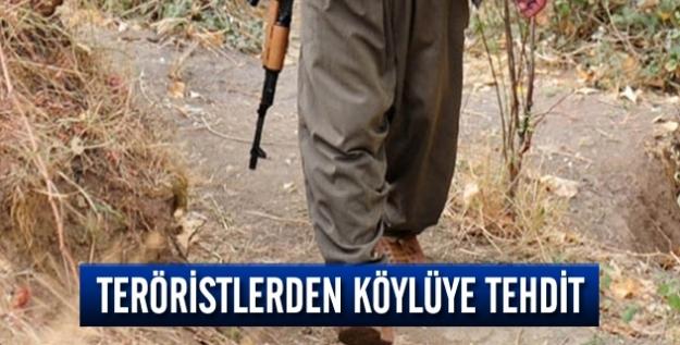 Teröristlerden köylüye tehdit