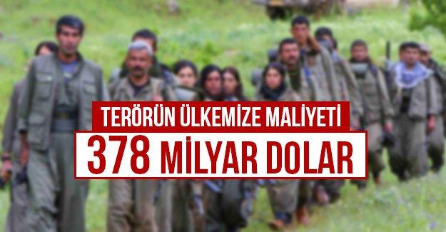 Terörün ülkemize maliyeti 378 milyar dolar...