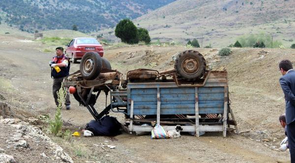 Ters Dönen Aracın Altında Kalan Sürücü Öldü