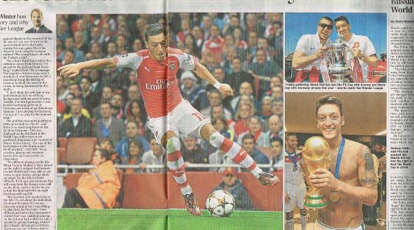The Daıly Telegraph, Mesut Özil İle Özel Söyleşi Yayınladı