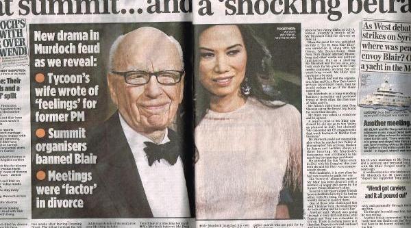 The Mail On Sunday: Ünlü Medya Patronunun Karisi, Tony Blair'e Aşik