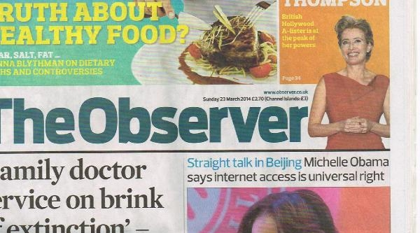 The Observer: Michelle Obama'nın Sözleri Başbakan Erdoğan'ın Eleştirilmesi Olarak Görülebilir