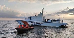 Riva açıklarında çarpışan iki gemiden biri battı