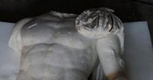 Aspendos Antik Kenti kazılarında Apollon heykeli bulundu
