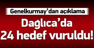 Dağlıca'da 24 PKK hedefi vuruldu