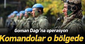Goman Dağı'na operasyon! Komandolar sevkedildi