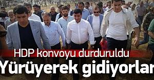HDP konvoyu Mardin çıkışında durduruldu
