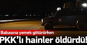 Babasına yemek götürürken PKK öldürdü