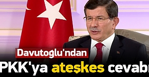 Davutoğlu'ndan PKK'nın 'planına' cevap