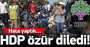 HDP özür diledi!